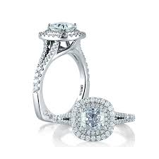 Halo Cushion Engagement Rings A Jaffe Classic Double Halo Cushion Engagement Ring