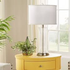 Accent Table Lamp Vincennes 3 Way 1 Light Clear Glass Contoured Base Accent Table
