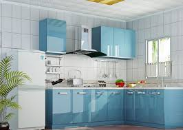 kitchen paint colors with soft blue and white color combination