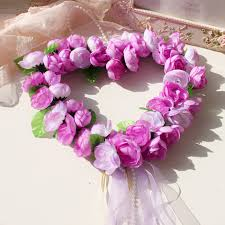 aliexpress com buy heart shape foam rose garland door decoration
