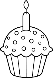 birthday cupcake coloring pages with candle coloringstar