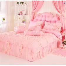 luxury lace princess crib kids bedding sets romantic pure cotton