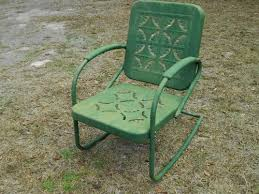 Patio Rocking Chairs Metal Vintage Primitive Metal Rocking Chair Garden Porch Patio