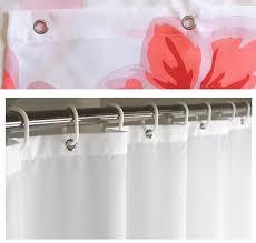 Waterproof Fabric Shower Curtains 13pcs Set Polyester Waterproof Fabric Shower Curtains With 12