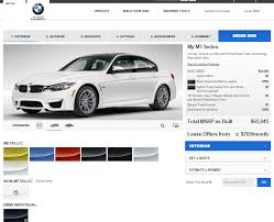 bmw usa accessories bmw usa m3 configurator where d the individual colors go