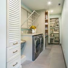 clothes hanger rack laundry room contemporary with caesarstone