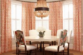 orange curtains contemporary dining room hudson interior designs