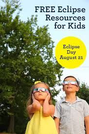 free eclipse activities for kids with eclipse printables books