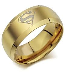gold ring for men via mazzini golden titanium superman ring for men and boys size