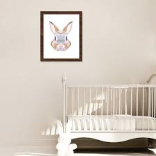 n6 colorful triangular rabbit canvas art print wall poster for