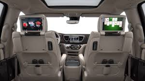 luxury minivan interior 2017 chrysler pacifica interior features