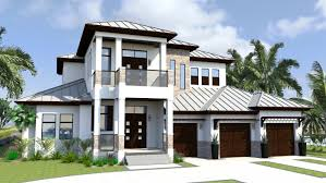 modern home with traditional style as seen from the street with