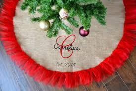burlap tree skirt wedding tree skirt burlap and tulle gift christmas tree