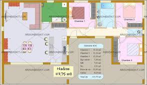 plan de maison plain pied 3 chambres avec garage maison bois moderne 3 chambres toit plat