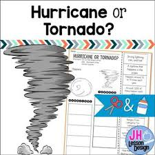 hurricane or tornado cut and paste sorting activity by jh lesson