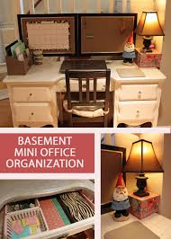 my great challenge basement mini office set up and organization