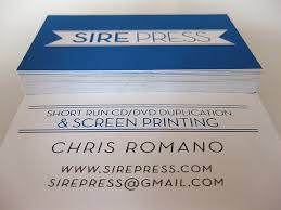 Short Run Business Cards Sire Press Business Card Screen Printing Screen Printed