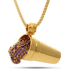 purple gold necklace images King ice jungl julz 18k gold purple drank necklace crisp png