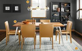 cass table with sava leather chairs modern dining room furniture