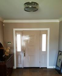 matched interior door color to the walls u0026 ceiling walls