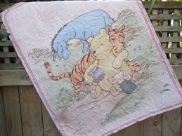 Map Bedding Baby Quilt Classic Winnie The Pooh Pink Tigger Eeyore