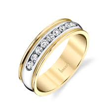 mens engagement rings husar u0027s house of fine diamonds 14kt white and yellow gold men u0027s