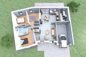 plan de maison de plain pied avec 3 chambres plan d une maison moderne 3d en v de plain pied avec 3 chambres
