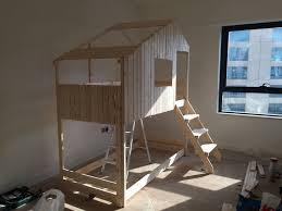 Bunk Bed House An Indoor Playhouse Bunk Bed Ikea Mydal Hack