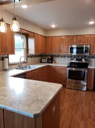 pictures of kitchen designs with oak cabinets traditional kitchen remodel with new oak cabinets