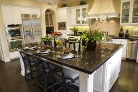 gourmet kitchen island 39 fabulous eat in custom kitchen designs