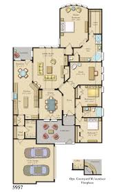 colored and furnished floor plans for new homes from bdx