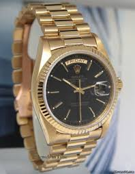 rolex black friday rolex day date president 18k yellow gold black dial mens watch