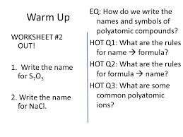 naming polyatomic ions ppt download