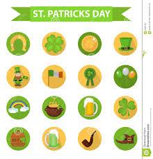 st patricks day icon set design element traditional irish