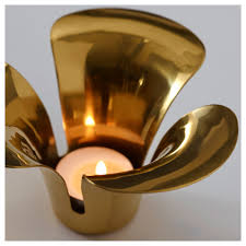 stillhet tealight holder gold colour 7 cm ikea