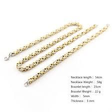 steel necklace wholesale images Stainless steel bracelet big necklace set unique box chain gold jpg