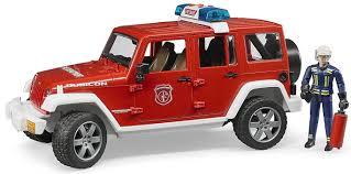 bruder fire truck bruder 02528 jeep wrangler unlimited rubicon fire engine