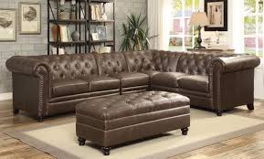 Tufted Sectional Sofas Roy Button Tufted Sectional Sofa With Armless Chair Lowest Price