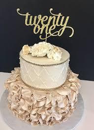 21 cake topper any number gold glitter twenty one cake topper 21st birthday
