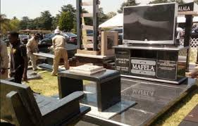how much do tombstones cost local tv legend joe mafela s tombstone involves a tv and