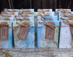 Map Favors by A Handmade Up Cycled And Vintage Shop By Vocrafted On Etsy