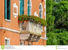 italian house with flowers on terrace stock photo image 47060090