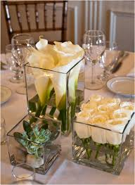 Simple Elegant Centerpieces Wedding by Arrangements At Different Heights Tablescapes Pinterest