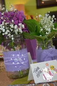 jar centerpieces for baby shower jar centerpieces purple and green baby shower baby girl