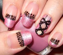 pink and black simple nail art best nail 2017 pink nails with