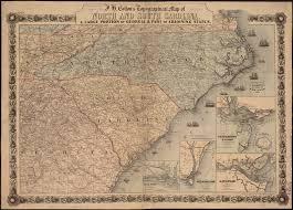 Georgia South Carolina Map File J H Coltons Topographical Map Of North And South Carolina A