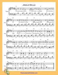 jingle bells lyrics free sheet for piano