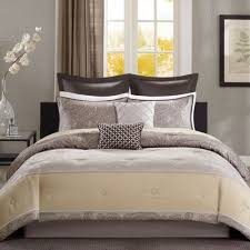 King Size Comforter Beige Brown Yellow King Size Comforter Set 7 Piece Bedding