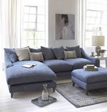 blue sectional sofa with chaise creating a minimalist bedroom style in your house wearefound