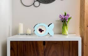 Beta Fish In Vase Fish Shaped Betta Fish Bowl In A Modern Design